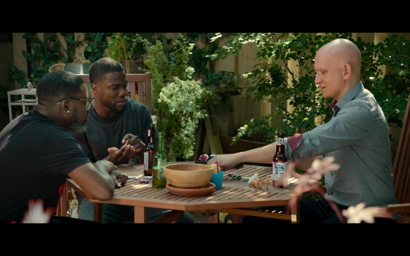Heineken Beer Enjoyed by Lil Rel Howery as Jordan and Pabst Blue Ribbon Beer of Anthony Carrigan as Oscar in Fatherhood Movie (1)