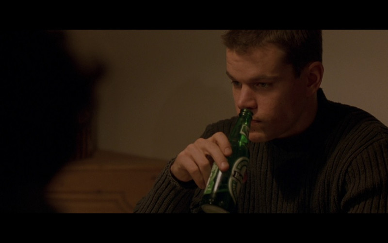 Heineken Beer Enjoyed by Matt Damon in The Bourne Identity (2002)
