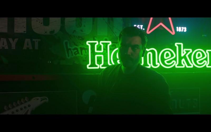 Heineken Beer Neon Sign in Midnight in the Switchgrass (2021)