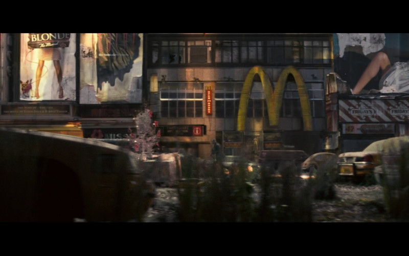 McDonald's and TGI Fridays Restaurants in I Am Legend (2007)