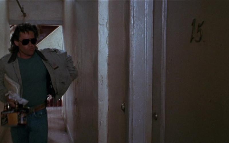 Miller Beer Pack Held by Kurt Russell as Lieutenant Gabriel 'Gabe' Cash in Tango & Cash (1989)
