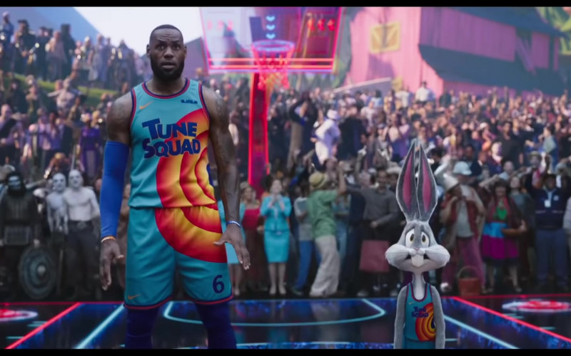 Nike Basketball Jersey and Shorts of LeBron James in Space Jam 2 Movie (1)
