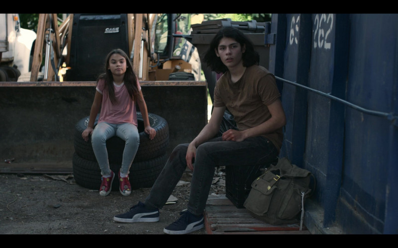 Puma Sneakers of Lucius Hoyos as Noah in Awake (2021)