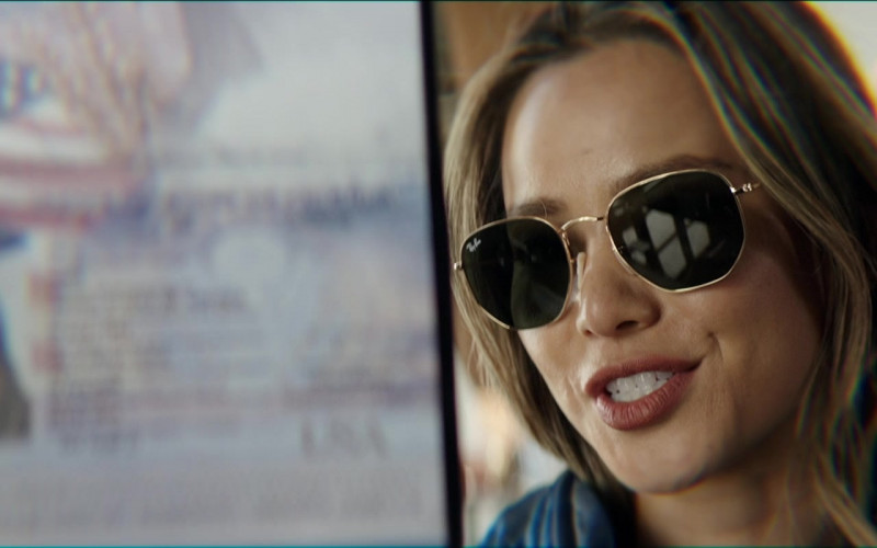 Ray-Ban Women's Hexagonal Sunglasses of Jamie Chung as Violet in The Misfits Movie 2021 (3)