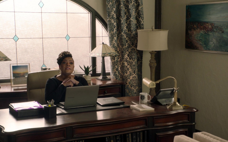 Samsung Laptop and Cisco Phone in Big Shot S01E08 Everything to Me (2021)