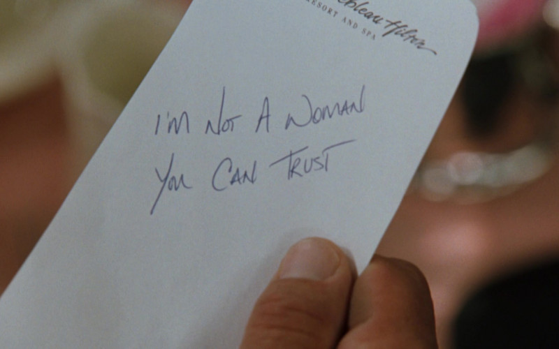 The Fontainebleau Hilton Hotel, Resort and Spa Note Held by Sylvester Stallone as Captain Ray Quick in The Specialist (1)