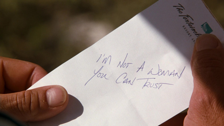 The Fontainebleau Hilton Hotel, Resort and Spa Note Held by Sylvester Stallone as Captain Ray Quick in The Specialist (2)