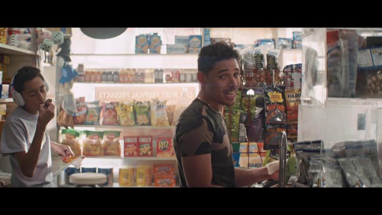 UTZ Snacks, Cheez-It, Ritz Crackers, Ajay's Montana Bananas, Haribo in In the Heights (2021)