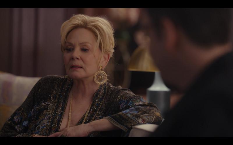 Versace Earrings of Jean Smart as Deborah Vance in Hacks S01E09 Interview (2021)