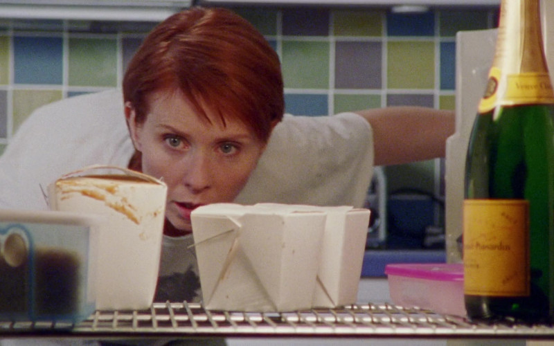 Veuve Clicquot Champagne of Cynthia Nixon as Miranda Hobbes in Sex and the City S03E18 Cock a Doodle Do! (2000)