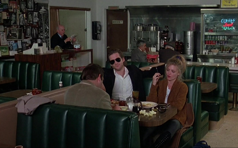 Vienna Beef Sign in The Fabulous Baker Boys (1989)